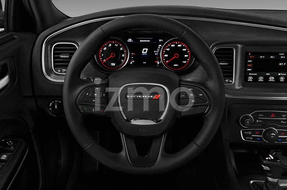 Car pictures of steering wheel view of a 2017 Dodge Charger SXT 4 Door Sedan