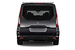 Straight rear view of 2018 Ford Transit Connect Titanium 5 Door Mini Mpv Rear View  stock images