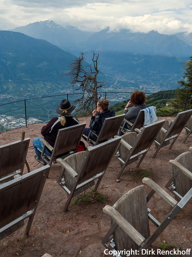 Knottnkino bei Vöran, Region Südtirol-Bozen, Italien, Europa<br /> viewpoint Knottenkino  near Vöran, Region South Tyrol-Bolzano, Italy, Europe