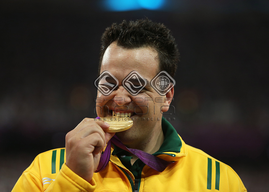Todd Hodgetts (AUS), Men's Shot Put - F20.<br /> Athletics, Olympic Stadium (Friday 7th Sept)<br /> Paralympics - Summer / London 2012<br /> London England 29 Aug - 9 Sept <br /> © Sport the library/Joseph Johnson