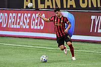 ATLANTA, GA - AUGUST 29: Matheus Rossetto #9 of Atlanta United passes the ball during a game between Orlando City SC and Atlanta United FC at Marecedes-Benz Stadium on August 29, 2020 in Atlanta, Georgia.