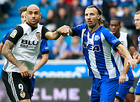 Deportivo Alaves'  Alexis Ruano (r) and Valencia CF's Simone Zaza during La Liga match. October 28,2017. (ALTERPHOTOS/Acero) /NortePhoto.com