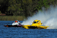 """Thom Heins, NM-30 """"Pennzoil Big Bird"""" (National Mod hydroplane(s) and Tom Thompson, A-52 """"Fat Chance Too"""""""
