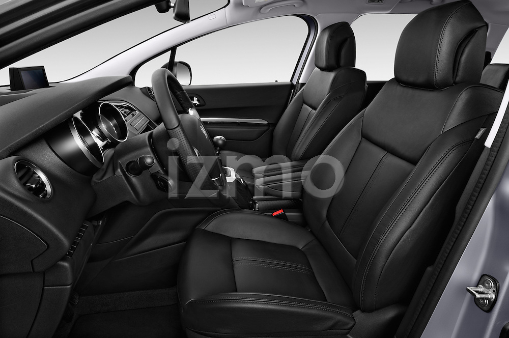 Front seat view of a 2014 Peugeot 5008 Allure 5 Door Mini Mpv 2WD.
