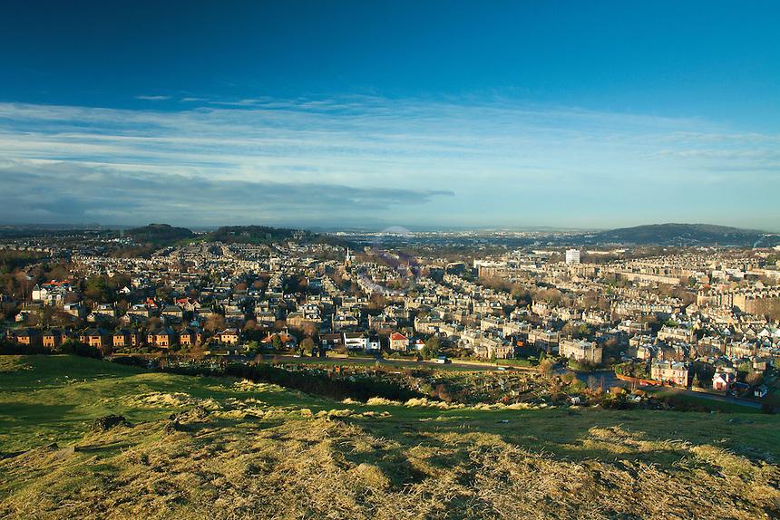 Edinburgh, Craiglockart Hill from Blackford Hill, Edinburgh