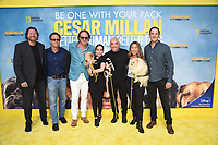 """LOS ANGELES - JULY 30: Jason Garnett, Lyle Smith, David Leepson, Jahira Dar, Cesar Millan, Jane Mun and Roger Roddy attend the premiere event for National Geographic's """"Cesar Millan: Better Human, Better Dog"""" at the Westfield Century City Mall Atrium on July 30, 2021 in Los Angeles, California. (Photo by Stewart Cook/National Geographic/PictureGroup)"""