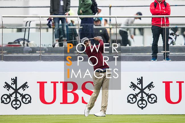 Clement Sordet of France tees off during the day three of UBS Hong Kong Open 2017 at the Hong Kong Golf Club on 25 November 2017, in Hong Kong, Hong Kong. Photo by Yu Chun Christopher Wong / Power Sport Images