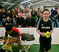 19-01-14,Netherlands, Rotterdam,  TC Victoria, Wildcard Tournament, ,   Final, Ballboy in the background Fabian van der Lans<br /> Photo: Henk Koster