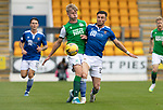 St Johnstone v Hibs……23.08.20   McDiarmid Park  SPFL<br />Josh Doig and Michael O'Halloran collide<br />Picture by Graeme Hart.<br />Copyright Perthshire Picture Agency<br />Tel: 01738 623350  Mobile: 07990 594431