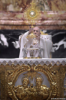 Pope Francis celebrates mass in the fest of the Corpus Domini  June 6, 2021
