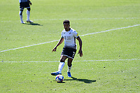 Korey Smith of Swansea City in action during the Sky Bet Championship match Swansea City and Wycombe Wanderers at Liberty Stadium in Swansea, Wales. Sporting stadiums around the UK remain under strict restrictions due to the Coronavirus Pandemic as Government social distancing laws prohibit fans inside venues resulting in games being played behind closed doors.<br /> Saturday 17 April 2021