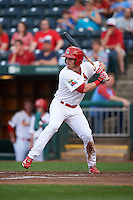 Springfield Cardinals outfielder Charlie Tilson (8) at bat during a game against the Frisco RoughRiders  on June 3, 2015 at Hammons Field in Springfield, Missouri.  Springfield defeated Frisco 7-2.  (Mike Janes/Four Seam Images)