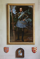 A dashing portrait of James Scudamore in the hall, the jousting champion of Elizabeth I and the inspiration for Edmund Spenser's knight 'Scudamour' in The Faerie Queene
