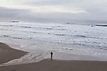 man on a beach, Oregon coast, Highway 101, Tillamook County, Oregon, Oregon Coast,