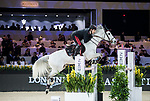 Emanuele Gaudiano of Italy riding Einstein competes in the Masters One DBS during the Longines Masters of Hong Kong at AsiaWorld-Expo on 11 February 2018, in Hong Kong, Hong Kong. Photo by Ian Walton / Power Sport Images