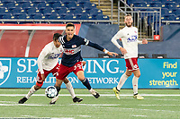 FOXBOROUGH, MA - OCTOBER 16: Collin Verfurth #35 of New England Revolution II intercepts a ball during a game between North Texas SC and New England Revolution II at Gillette Stadium on October 16, 2020 in Foxborough, Massachusetts.