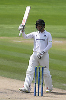 Danial Ibrahim raises his bat to celebrate scoring a half century during Sussex CCC vs Glamorgan CCC, LV Insurance County Championship Group 3 Cricket at The 1st Central County Ground on 5th July 2021