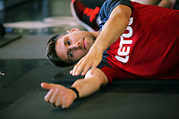 Pictured: Federico Fernandez works out in the gym. Wednesday 05 July 2017<br />Re: Swansea City FC training at Fairwood training ground, UK