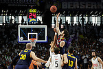 Real Madrid´s players and Barcelona´s players during Liga Endesa Final first match at Palacio de los Deportes in Madrid, Spain. June 19, 2015. (ALTERPHOTOS/Victor Blanco)