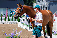 AUS-Kevin McNab presents Don Quidam during the Eventing 1st Horse Inspection. Tokyo 2020 Olympic Games. Thursday 29 July 2021. Copyright Photo: Libby Law Photography