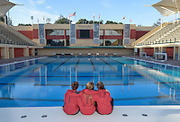 Stanford, Ca - Monday, January 25: Stanford Women's Waterpolo Team Photo 2016.