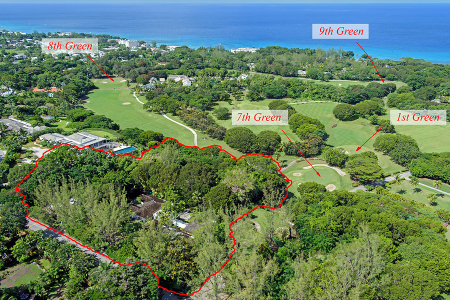 Sandy Lane golf course, St. James, Barbados