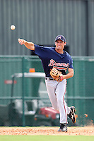 GCL Braves third baseman Kirk Walker #39 during a game against the GCL Pirates at Disney Wide World of Sports on June 25, 2011 in Kissimmee, Florida.  The Pirates defeated the Braves 5-4 in ten innings.  (Mike Janes/Four Seam Images)