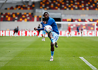 17th October 2020; Brentford Community Stadium, London, England; English Football League Championship Football, Brentford FC versus Coventry City; Amadou Bakayoko of Coventry City during shooting practise
