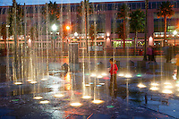A water fountain in the Gaslamp District, Downtown San Diego, California