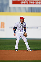 Binghamton Rumble Ponies second baseman Jeff McNeil (1) during a game against the Erie SeaWolves on May 14, 2018 at NYSEG Stadium in Binghamton, New York.  Binghamton defeated Erie 6-5.  (Mike Janes/Four Seam Images)