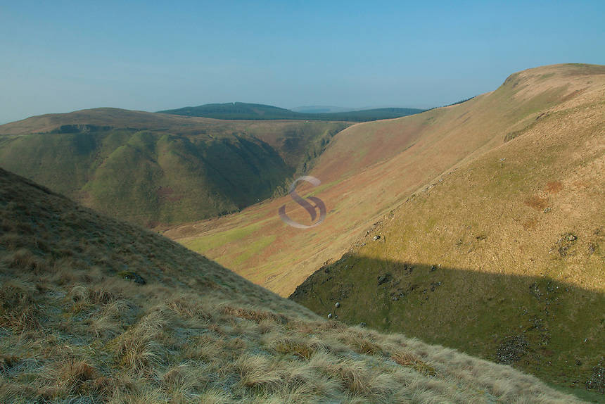 Annanhead Hill and Ericstane Hill from the Devil's Beef Tub, Galloway