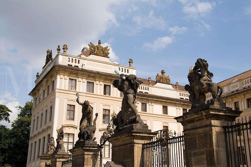 Gate to Archbishop Palace, Prague, Czech Republic