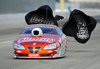 Nov. 11, 2011; Pomona, CA, USA; NHRA pro stock driver Jason Line during qualifying at the Auto Club Finals at Auto Club Raceway at Pomona. Mandatory Credit: Mark J. Rebilas-.