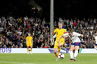 Fran Kirby of England Women shoots at goal during the Women's international friendly match between England Women and Australia at Craven Cottage, London, England on 9 October 2018. Photo by Carlton Myrie / PRiME Media Images.