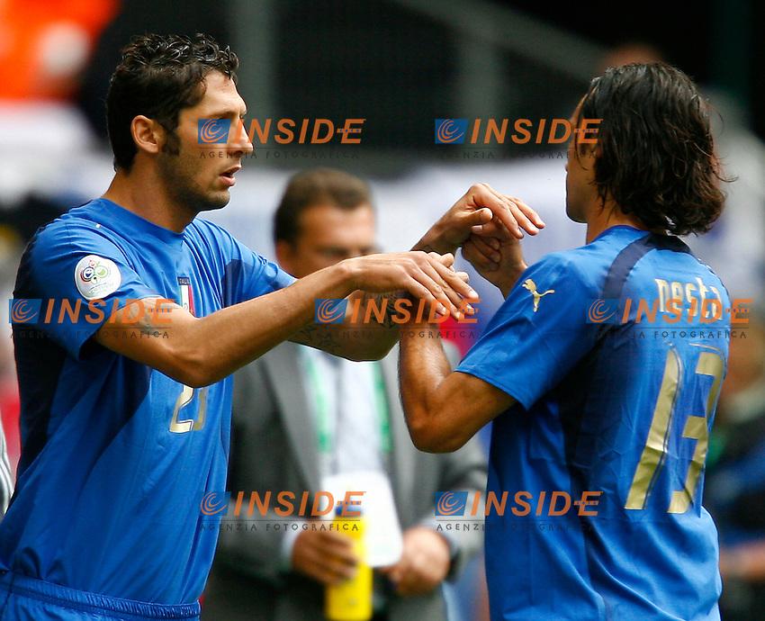 HAmburg 22/6/2006 World Cup 2006.Repubblica Ceca Italia 0-2 0-2.Photo Andrea Staccioli Insidefoto.Marco Materazzi sostituisce Alessandro Nesta