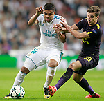 Real Madrid's Carlos Henrique Casemiro (l) and Tottenham Hotspur FC's Harry Winks during Champions League Group H match 3. October 17,2017. (ALTERPHOTOS/Acero)