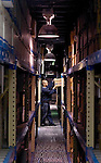 WATERTOWN, CT - 27 April 2004 - 042704TH09 -  Robert Berry of Waterbury, a 4-year employee of ArchivesOne, moves boxes at one of ArchivesOne warehouses with 40-foot ceilings located on Commercial Street in Watertown.  TODD HOUGAS PHOTO