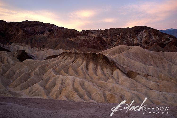 Sunrise at Zabriskie Point, Death Valley National Park, USA, March 2012