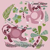 Lamont, GIFT WRAPS, GESCHENKPAPIER, PAPEL DE REGALO, paintings+++++,USGTSD2740,#gp#, EVERYDAY ,notebook,notebooks,sloths,sloth