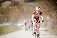 Bauke Mollema (NED/Trek-Segafredo) on the white dust roads of Tuscany<br /> <br /> 13th Strade Bianche 2019 (1.UWT)<br /> One day race from Siena to Siena (184km)<br /> <br /> ©kramon