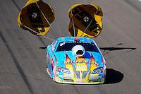 Feb. 19, 2012; Chandler, AZ, USA; NHRA pro stock driver Greg Stanfield during the Arizona Nationals at Firebird International Raceway. Mandatory Credit: Mark J. Rebilas-