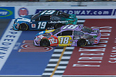 #19: Martin Truex Jr., Joe Gibbs Racing, Toyota Camry Auto-Owners Insurance #18: Kyle Busch, Joe Gibbs Racing, Toyota Camry M&M's Fudge Brownie