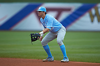 Ashton McGee (36) of the North Carolina Tar Heels on defense against the Boston College Eagles in Game Five of the 2017 ACC Baseball Championship at Louisville Slugger Field on May 25, 2017 in Louisville, Kentucky. The Tar Heels defeated the Eagles 10-0 in a game called after 7 innings by the Mercy Rule. (Brian Westerholt/Four Seam Images)