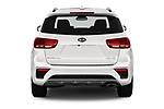 Straight rear view of a 2019 KIA Sorento SX Limited 5 Door SUV stock images