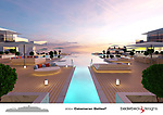 Pictured:  Onboard the Galileo² Catamaran..<br /> <br /> An incredible £450 billion pound yacht is so large it will be used as 'floating marina' and even boasts an 80 metre-long pier.  The extraordinary 200 metre long catamaran has been designed to 'shift the limits of what is feasible' and has an enormous 'harbour area' beneath the main deck.<br /> <br /> It will also have a 500 square metre outdoor pool, and a 'amphitheatre style' open air cinema.  The Galileo², created by Beiderbeck Designs, has been described as 'the greatest concept' ever designed.  SEE OUR COPY FOR DETAILS.<br /> <br /> Please byline: Beiderbeck Designs/Solent News<br /> <br /> © Beiderbeck Designs/Solent News & Photo Agency<br /> UK +44 (0) 2380 458800