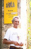 Michel Moreau Domaine de Terre Megere, Cournonsec, Montpellier. Gres de Montpellier. Languedoc. Owner winemaker. France. Europe.