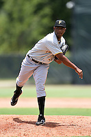 GCL Pirates pitcher Yunior Montero (37) delivers a pitch before a game against the GCL Phillies on June 26, 2014 at the Carpenter Complex in Clearwater, Florida.  GCL Phillies defeated the GCL Pirates 6-2.  (Mike Janes/Four Seam Images)