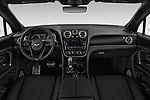 Stock photo of straight dashboard view of a 2018 Bentley Bentayga Base 5 Door SUV