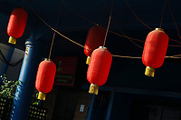Lantern decoration for Chinese new year of the Ox, February 2021,<br />  , Siem Reap, Cambodia