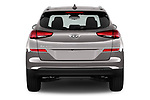 Straight rear view of a 2019 Hyundai Tucson Value 5 Door SUV stock images